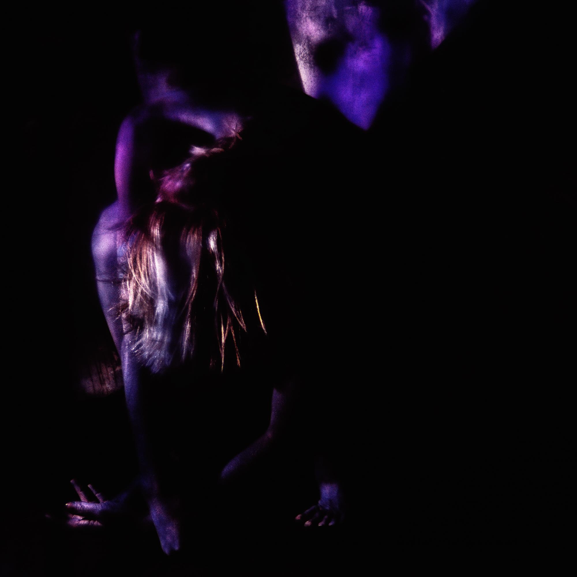 BLUE CHARCOALED DANCER #3